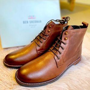 Ben Sherman men brown leather Brent boots AU11.5